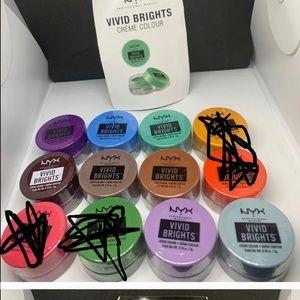 NYX vivid brights eyeshadow